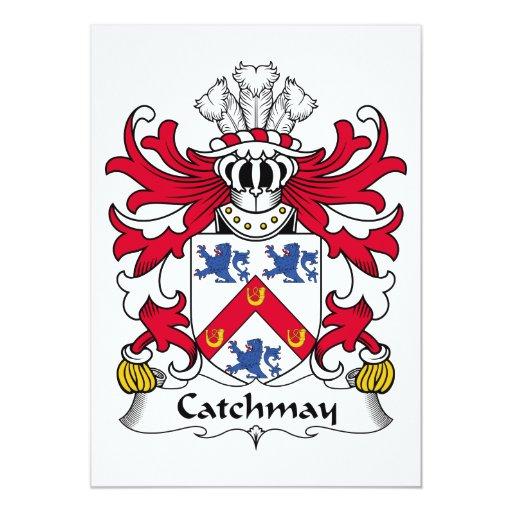 Escudo de la familia de Catchmay Invitación 12,7 X 17,8 Cm