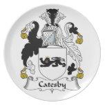 Escudo de la familia de Catesby Platos Para Fiestas