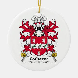 Escudo de la familia de Catharne Adorno Navideño Redondo De Cerámica