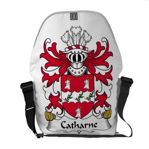 Escudo de la familia de Catharne Bolsa De Mensajería