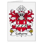 Escudo de la familia de Catharne Felicitación