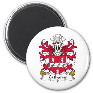 Escudo de la familia de Catharne Imán Redondo 5 Cm
