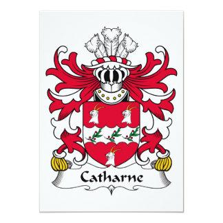 """Escudo de la familia de Catharne Invitación 5"""" X 7"""""""