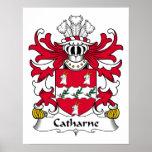 Escudo de la familia de Catharne Poster