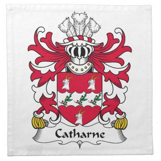 Escudo de la familia de Catharne Servilleta