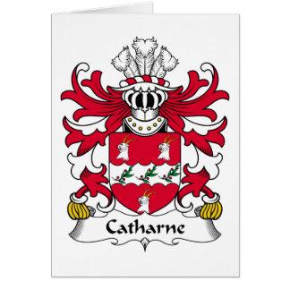Escudo de la familia de Catharne Tarjeta De Felicitación