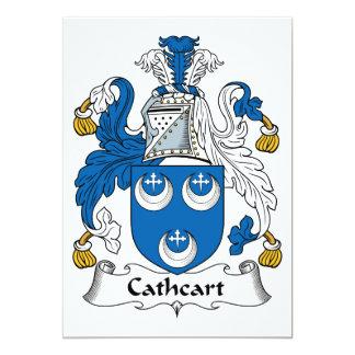 """Escudo de la familia de Cathcart Invitación 5"""" X 7"""""""