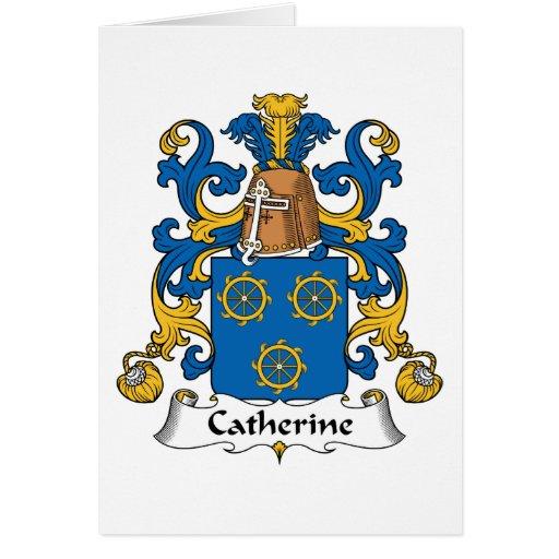 Escudo de la familia de Catherine Felicitación