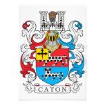 Escudo de la familia de Caton Invitación Personalizada