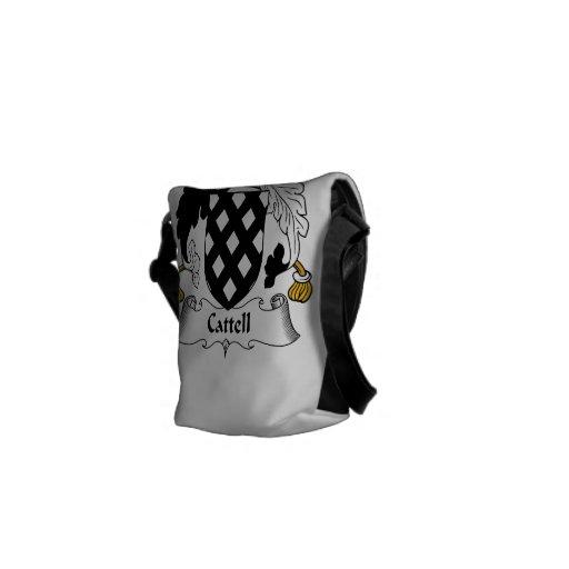 Escudo de la familia de Cattell Bolsa De Mensajeria