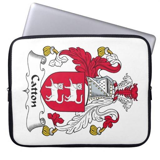 Escudo de la familia de Catton Fundas Portátiles