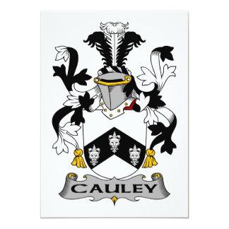 """Escudo de la familia de Cauley Invitación 5"""" X 7"""""""