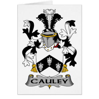 Escudo de la familia de Cauley Tarjeta De Felicitación