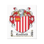 Escudo de la familia de Caulfield Impresiones En Lienzo Estiradas