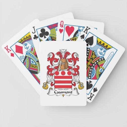Escudo de la familia de Caumont Baraja Cartas De Poker