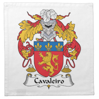 Escudo de la familia de Cavaleiro Servilletas