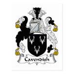 Escudo de la familia de Cavendish Postal