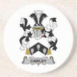 Escudo de la familia de Cawley Posavasos Cerveza