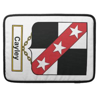 Escudo de la familia de Cayley Funda Para Macbooks