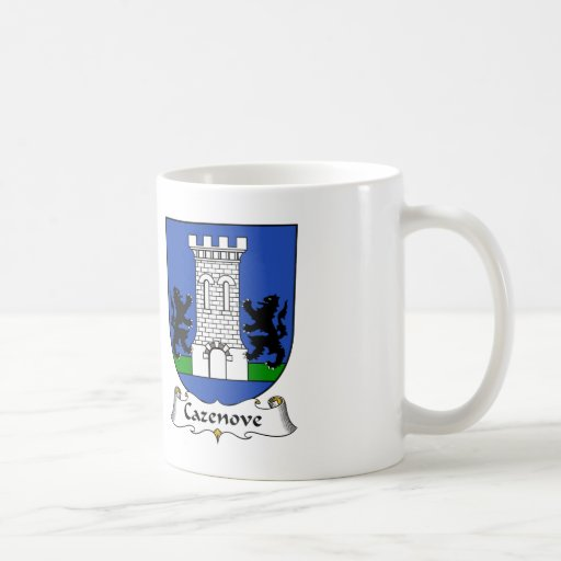 Escudo de la familia de Cazenove Tazas De Café