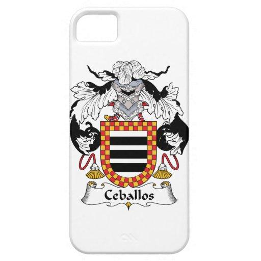 Escudo de la familia de Ceballos iPhone 5 Case-Mate Funda