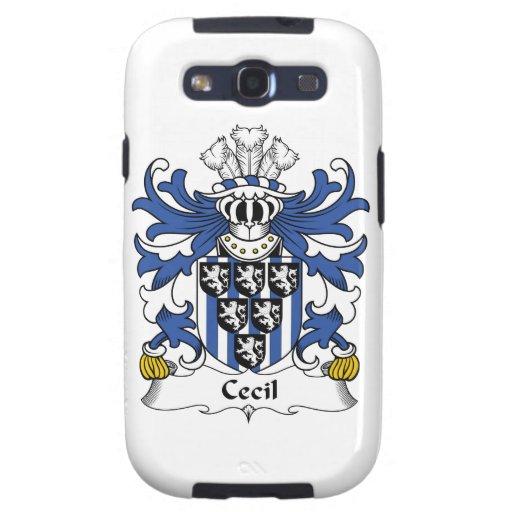 Escudo de la familia de Cecil Galaxy SIII Fundas