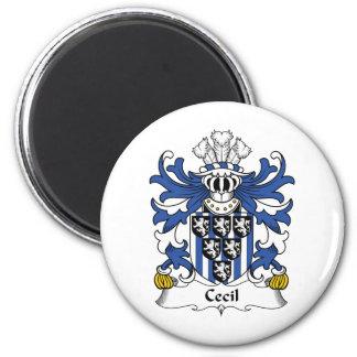 Escudo de la familia de Cecil Imán Redondo 5 Cm