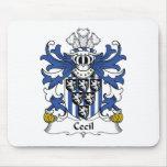 Escudo de la familia de Cecil Alfombrillas De Ratón