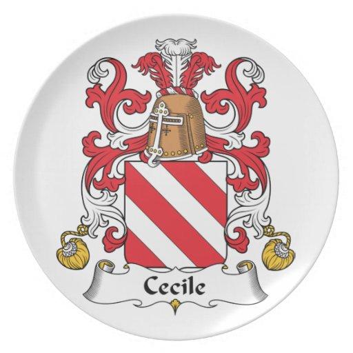 Escudo de la familia de Cecile Plato