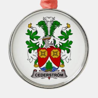 Escudo de la familia de Cederstrom Adorno Redondo Plateado