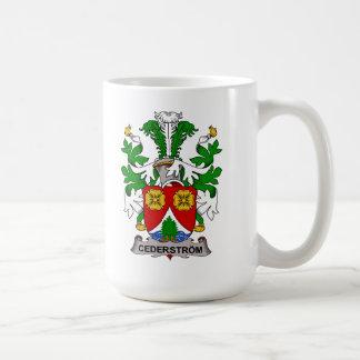 Escudo de la familia de Cederstrom Tazas De Café