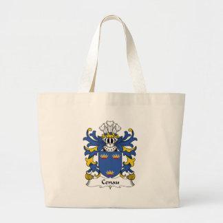 Escudo de la familia de Cenau Bolsa Tela Grande