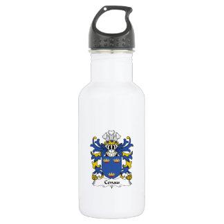 Escudo de la familia de Cenau Botella De Agua De Acero Inoxidable