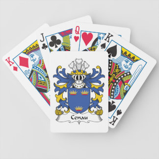 Escudo de la familia de Cenau Baraja Cartas De Poker