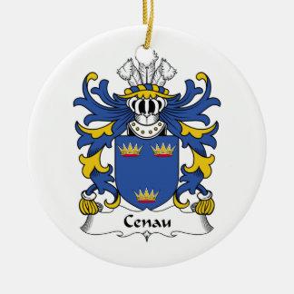 Escudo de la familia de Cenau Adorno Redondo De Cerámica