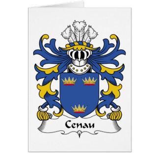 Escudo de la familia de Cenau Tarjeta De Felicitación
