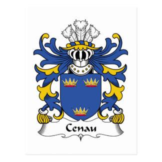 Escudo de la familia de Cenau Tarjetas Postales