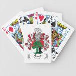 Escudo de la familia de Cerati Baraja Cartas De Poker