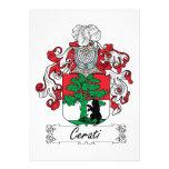 Escudo de la familia de Cerati Comunicado Personal