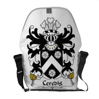 Escudo de la familia de Ceredig Bolsas De Mensajeria