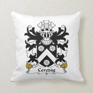 Escudo de la familia de Ceredig Almohadas