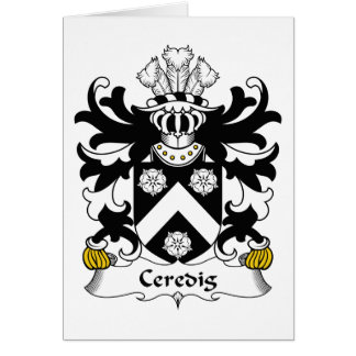 Escudo de la familia de Ceredig Tarjeta