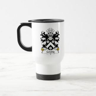 Escudo de la familia de Ceredig Taza De Café