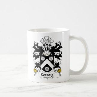 Escudo de la familia de Ceredig Tazas De Café