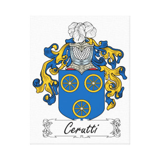 Escudo de la familia de Cerutti Impresión En Tela