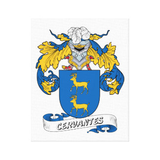 Escudo de la familia de Cervantes Lienzo Envuelto Para Galerías