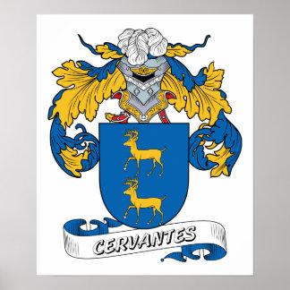Escudo de la familia de Cervantes Posters