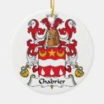 Escudo de la familia de Chabrier Adorno De Navidad