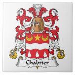 Escudo de la familia de Chabrier Azulejo