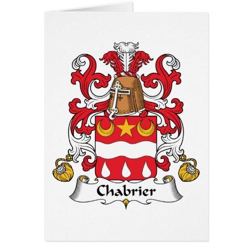 Escudo de la familia de Chabrier Tarjeta De Felicitación